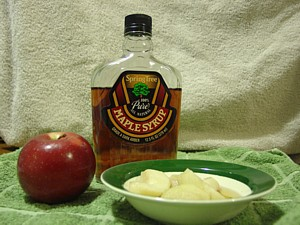 New Egnland baked Apples in Maple Syrup
