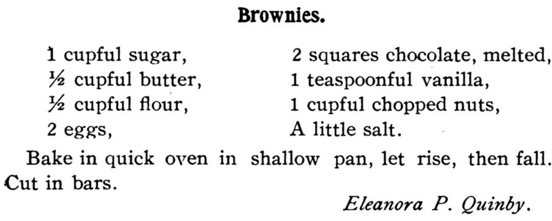 Home Cookery 18904 Brownies Recipe